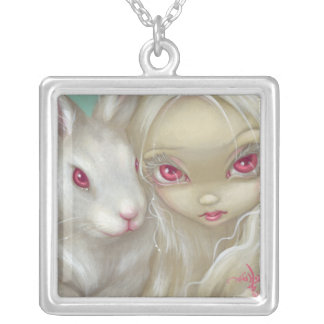 Faces of Faery 100 NECKLACE white rabbit fairy