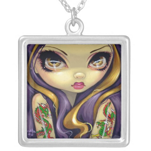 Faces of Faery #107 NECKLACE dragon tattoo fairy