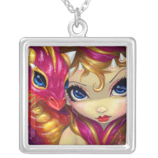 Faces of Faery #118 NECKLACE dragon fairy