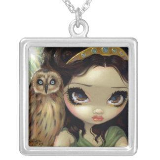 Faces of Faery 127 NECKLACE Athena Owl goddess