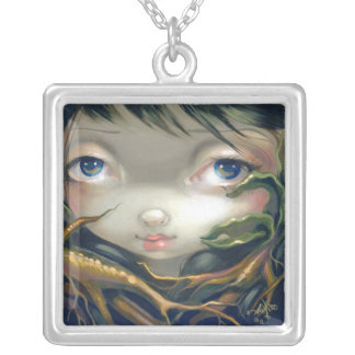 Faces of Faery 139 NECKLACE mandrake root fairy