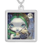 Faces of Faery 145 Necklace gothic fairy Pug dog