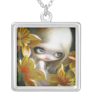 Faces of Faery 148 NECKLACE daffodil fairy