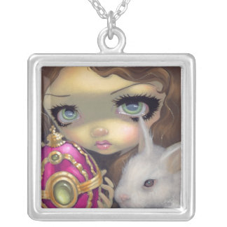 Faces of Faery 150 NECKLACE Easter Egg Bunny Fairy