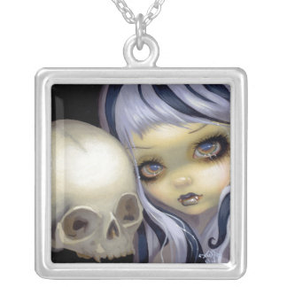 Faces of Faery 153 NECKLACE vampire skull fairy
