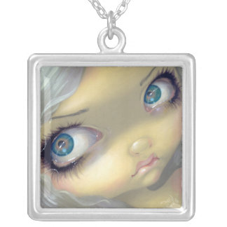 Faces of Faery 156 NECKLACE big eyes fairy