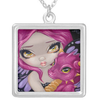 Faces of Faery 24 NECKLACE dragon fairy pink