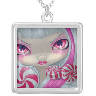 Faces of Faery 44 NECKLACE peppermint candy fairy