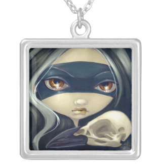 Faces of Faery 79 NECKLACE gothic bird skull fairy