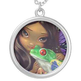 Faces of Faery 93 NECKLACE frog fairy