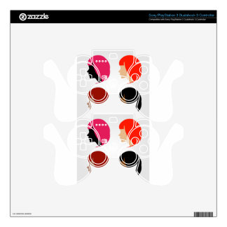 Faces of four multi-ethnic women PS3 controller skin
