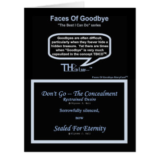 Faces Of Goodbye – Restrained Desire Azure Card