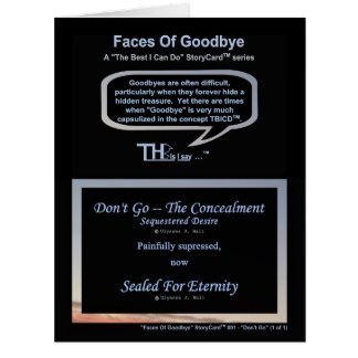Faces Of Goodbye – Sequestered Desire Azure Card