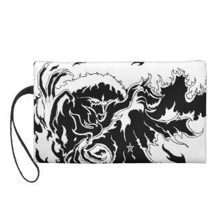 faces of hell wristlet purse