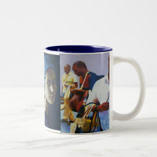 Faces of Italy Two-Tone Coffee Mug
