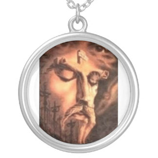 FACES of JESUS Silver Plated Necklace