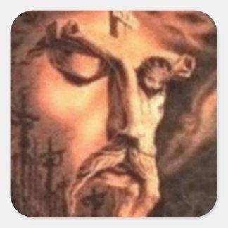 FACES of JESUS Square Sticker