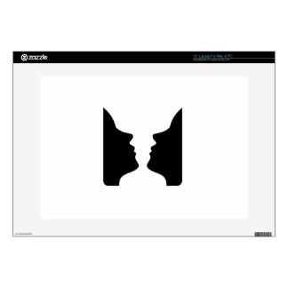 Faces or vase- illusion of two faces like a vase decal for laptop