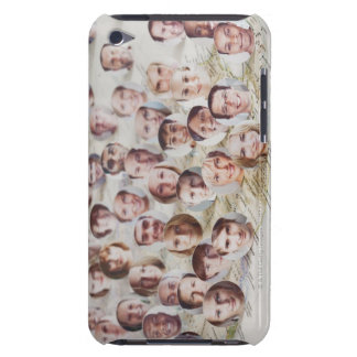 Faces over a map of America iPod Case-Mate Case