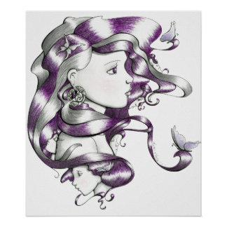 faces purple poster