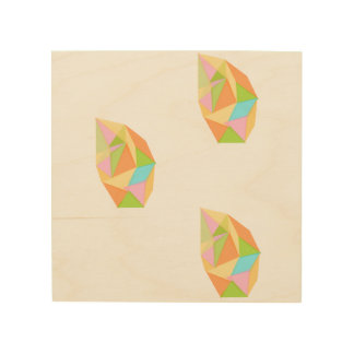 Faceted Drops on Wood by KCS Wood Print