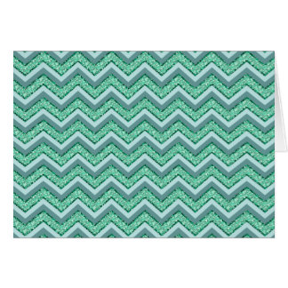 Faceted Emerald Chevron Pattern Greeting Card