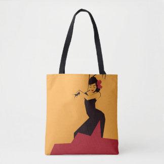 Faceted Flamenco Tote Bag