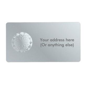 Faceted Gem Aluminium Grey Label