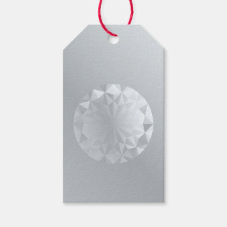 Faceted Gem Aluminium Grey Pack Of Gift Tags