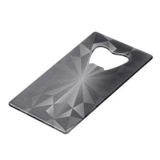 Faceted Gem Anthracite Grey Credit Card Bottle Opener