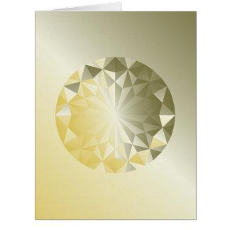 Faceted Gem Yellow Beryl Card