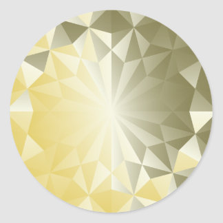Faceted Gem Yellow Beryl Classic Round Sticker