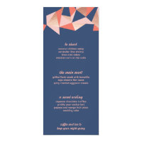 Faceted Geode Modern Geometric Wedding Menu Card