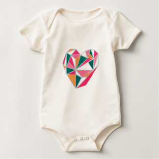 Faceted heart.jpg baby bodysuit