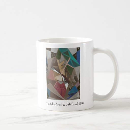 'Faceted in Space' coffee mug