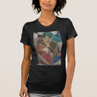 'Faceted in Space' old black t-shirt. T Shirt