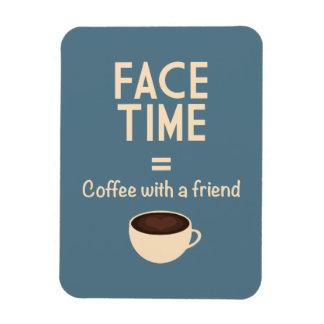 FaceTime = café con un amigo Rectangle Magnet