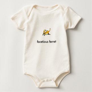 facetious ferret baby bodysuit