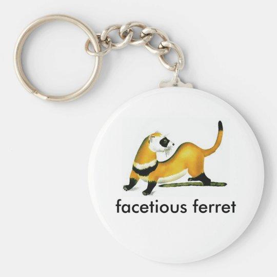 facetious ferret keychain