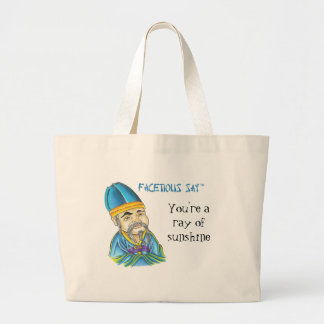Facetious Say Large Tote Bag