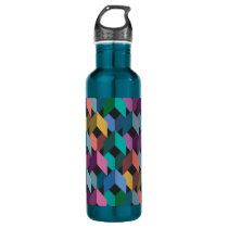 Facets 24 oz. Electric Blue Water Bottle