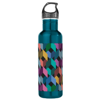 Facets 24 oz. Electric Blue Water Bottle