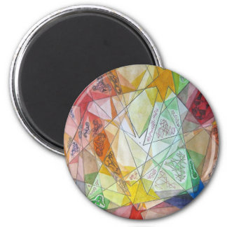 Facets 2 Inch Round Magnet