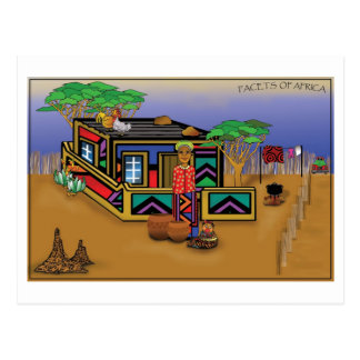 Facets of Africa Postcard