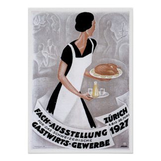 Fach Ausstellung Vintage Food Ad Art Posters