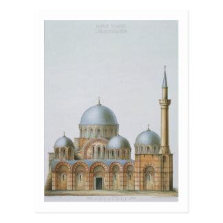 Fachada de Kahrije Dzamissi, la iglesia del Savi Tarjeta Postal