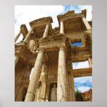 Fachada de la biblioteca de Celsus en el POSTER de