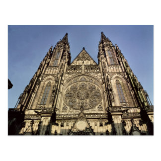 Fachada de la catedral de St. Vitus Postales
