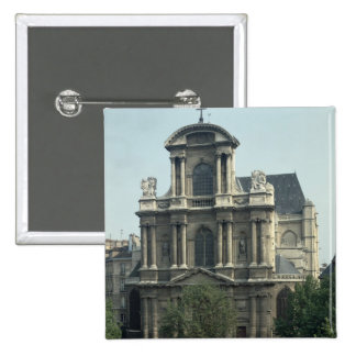 Fachada de la iglesia de Santo-Gervais Pin Cuadrada 5 Cm