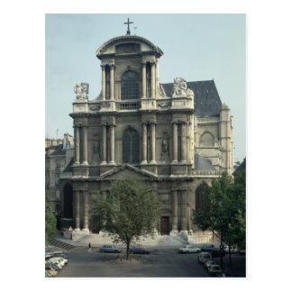 Fachada de la iglesia de Santo-Gervais Postal
